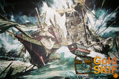 корабль Ле Шамо, клад, золотые монеты