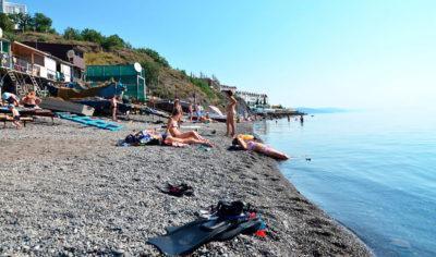 Алушта - пляж Рыбачий стан