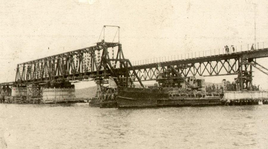 Крымский мост в 1944 году