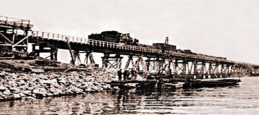 Керченский мост построенный фашистами