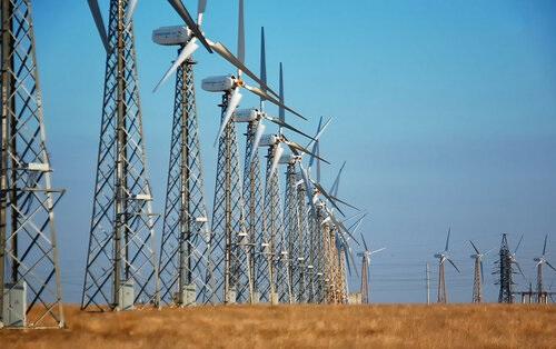 Ветряная электростанция в Мирном