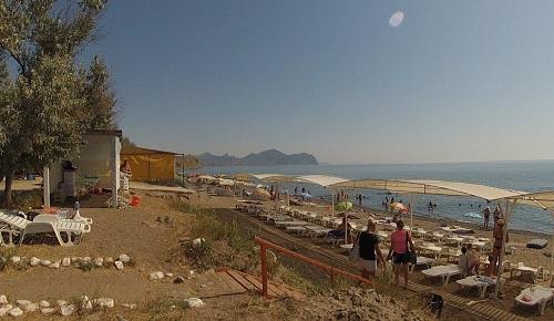 Пляж Солнечной Долины, Крым