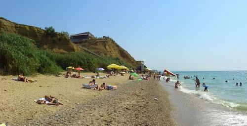 Пляж поселка Кача